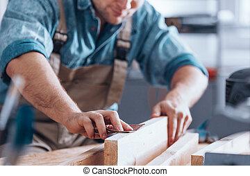 Close-up of male carpenter