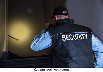 Close-up Of Male Security Officer