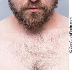 Close-up of man's beard