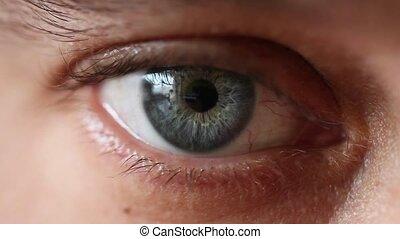 close up of mans eye