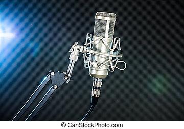 Microphone In Studio