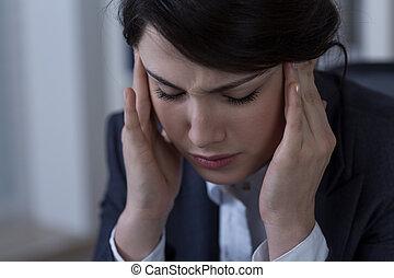 Close-up of migraine