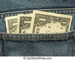 close-up of money in the pocket 2
