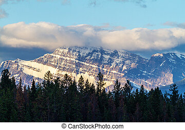 Close up of Mount Edith Cavell in Jasper National Park