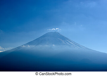 close-up of Mt Fuji