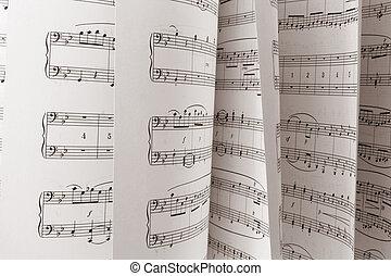 Music Score - Close Up of Music Score