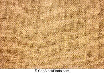 Close-up of natural canvas