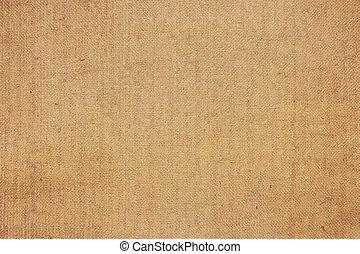 Close-up of natural canvas texture
