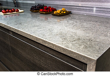 Close up of new modern counter top counter