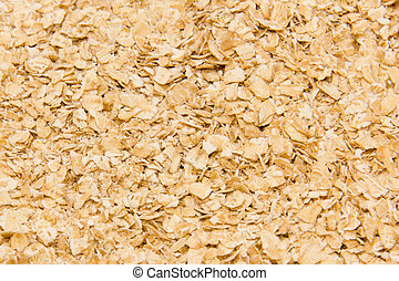 Close up of oat flakes