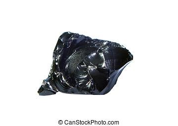 obsidian rock - close-up of obsidian rock,obsidian rock is a...