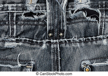 Close up of Old jeans.