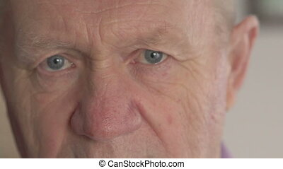 Close-up of old man eyes