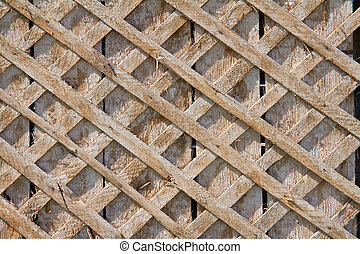 Close up of old wooden fence