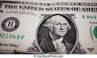 Close up of one dollar note