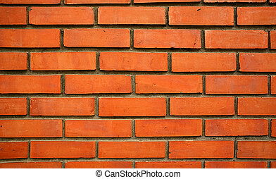 Close up of orange brick wall texture