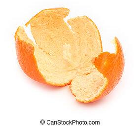 orange zest on white