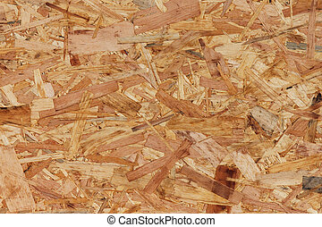 close up of oriented strand board