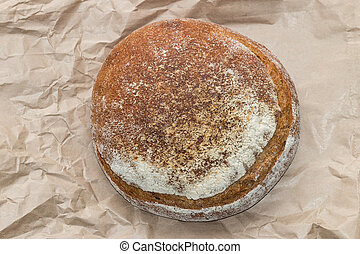 close up of pain de campagne loaf