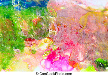 Close up of paint