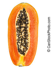 papaya fruit slice
