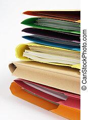 Paperwork in Folders - Close Up of Paperwork in Folders