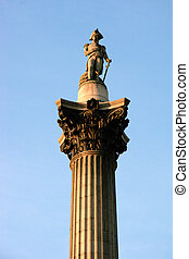 Close-up of part of Nelson's column in Trafalgar Square London