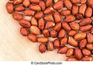 Close up of peanuts texture.