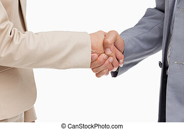 Close-up of people shaking their hands