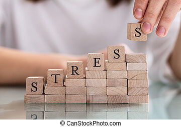 Person's Hand Placing Last Alphabet Of Word Stress