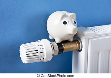 Piggy Bank On Heating Radiator