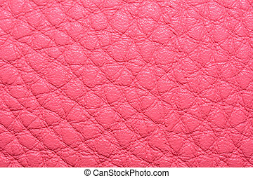 Close up of pink leather texture