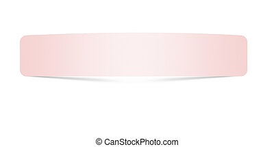close up of pink paper with curl on white background
