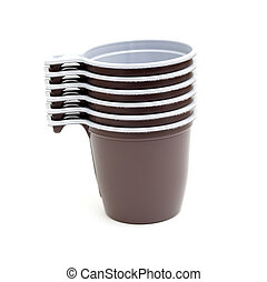 close up of plastic cup of coffee