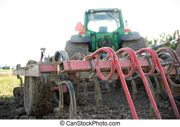 plow on a tractor