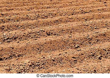 Close Up of Plowed Dirt - Plowed Dirt for Agriculture...