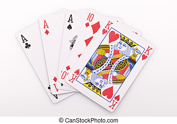 Close-up of poker cards