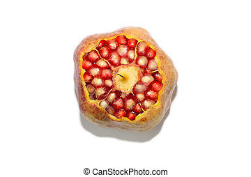 close up of pomegranate fruit pulp
