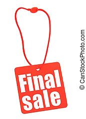 close-up of price tag isolated on white, there is no infringement of trademark copyright
