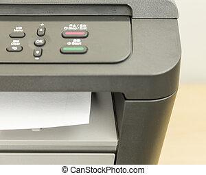 Close-up of printer