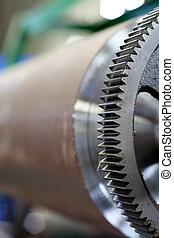 printing machinery - close-up of printing machinery