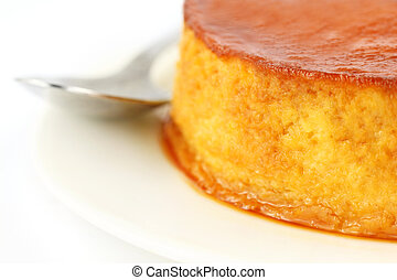 Close up of pudding