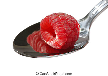 raspberry on a spoon