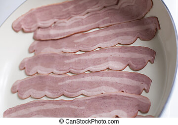 Close Up of Raw Bacon