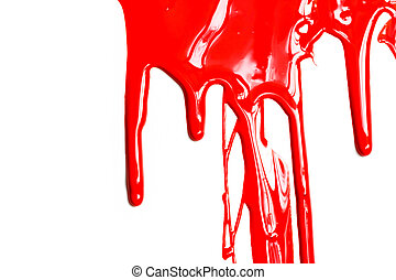 Close up of red paint