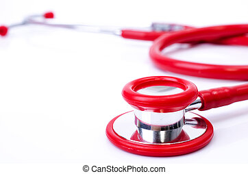 Red stethoscope