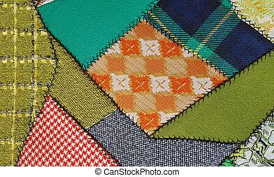 retro crazy quilt pattern