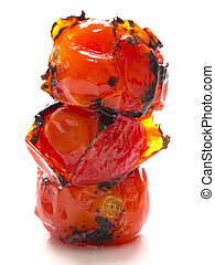 close up of roasted cherry tomatoes