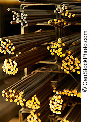 close up of rods
