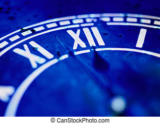 Roman Numerals on a Clock - Close-up of Roman Numerals on a ...